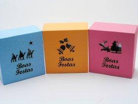 Caixas rectangulares grandes em cartolina para NATAL