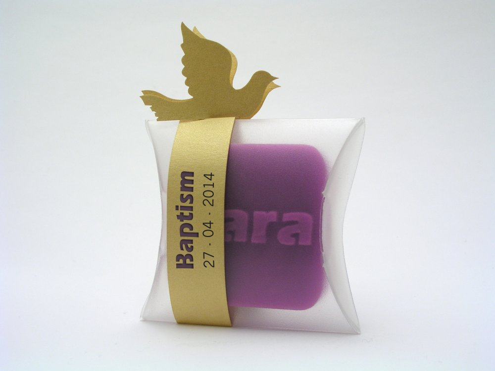 small soap personalized gift for baptisms